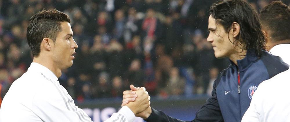 Image result for Cavani Ronaldo
