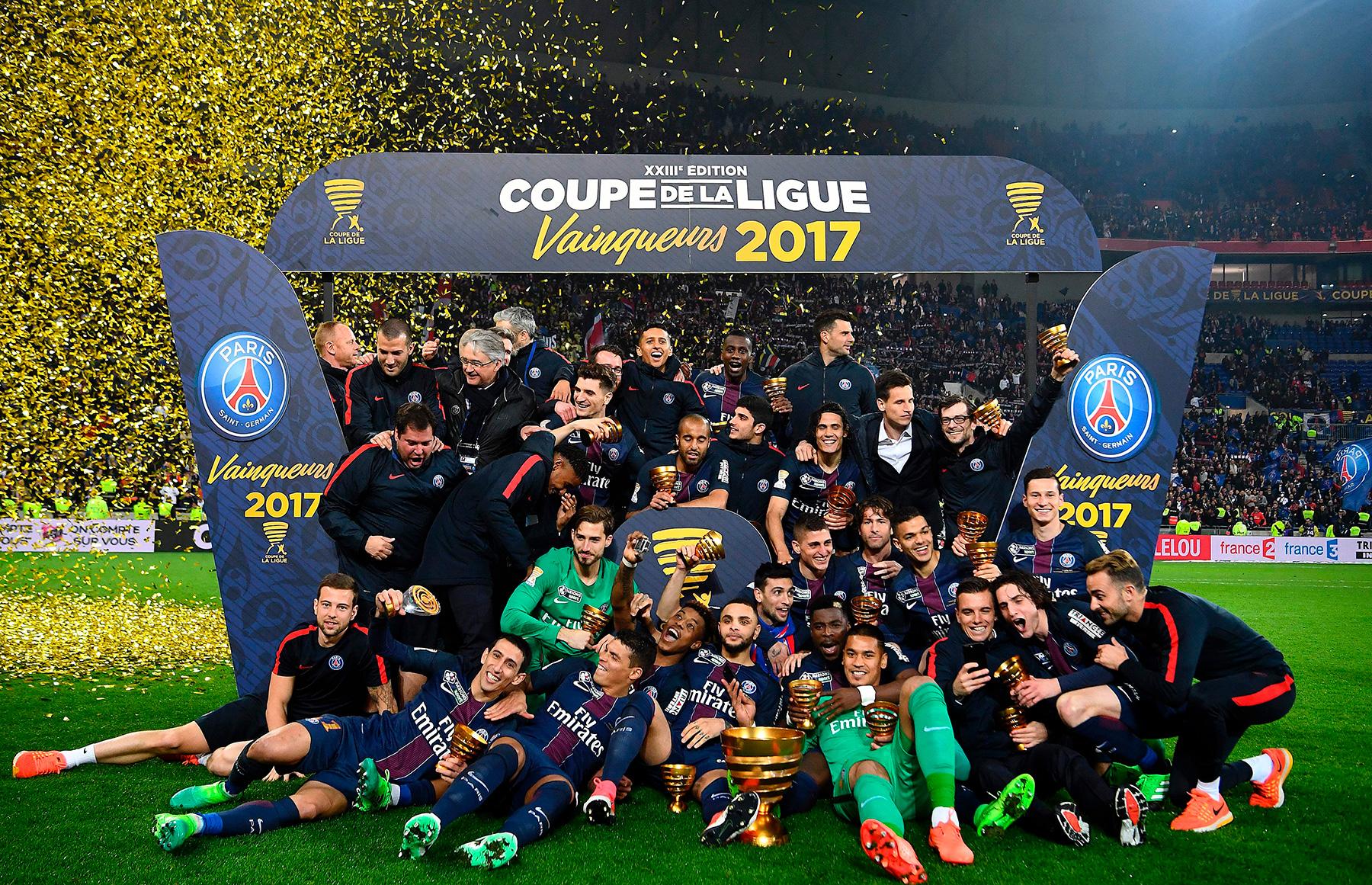 Match in photos psg win fourth consecutive coupe de la ligue psg talk - Final de la coupe de la ligue ...