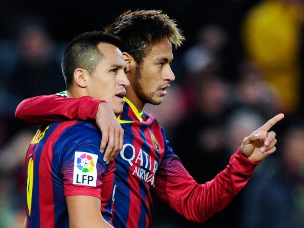 Neymar and Alexis Sanchez