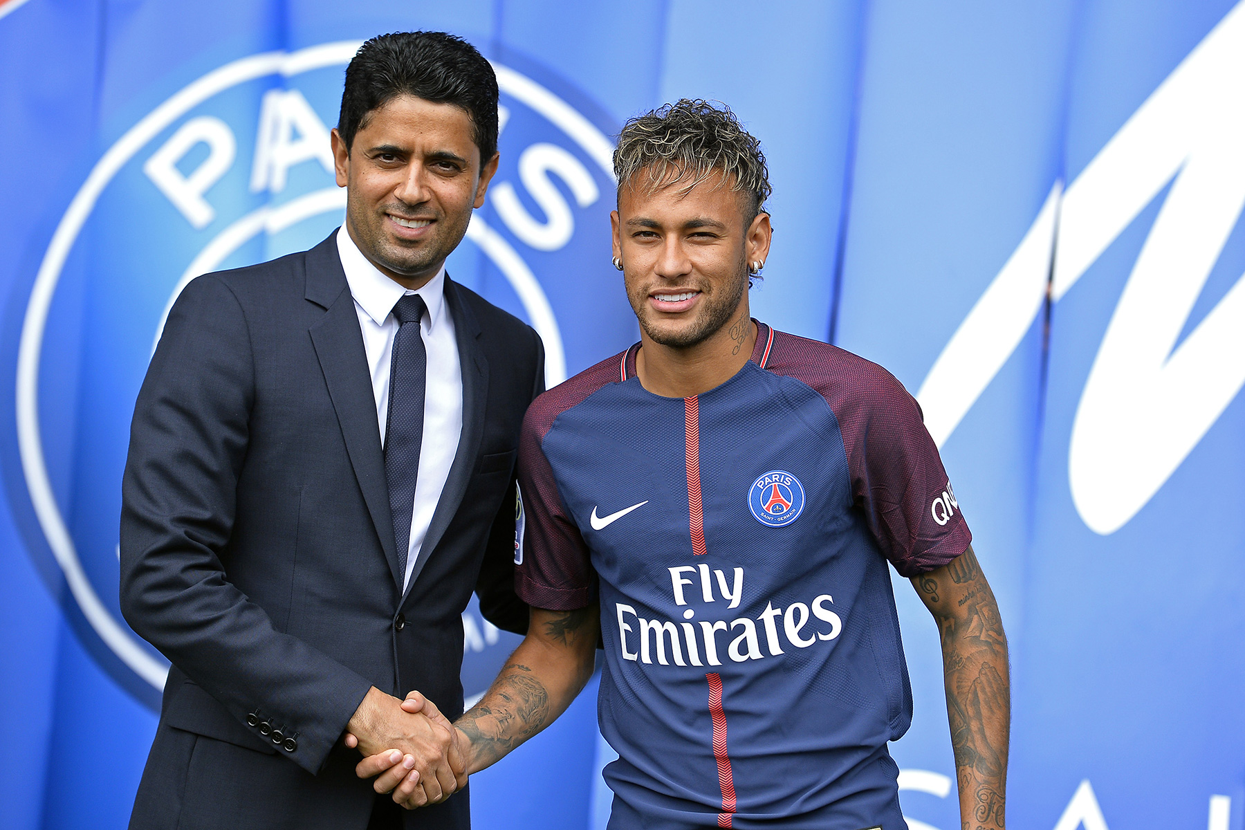 Nasser Al Khelaifi and Neymar