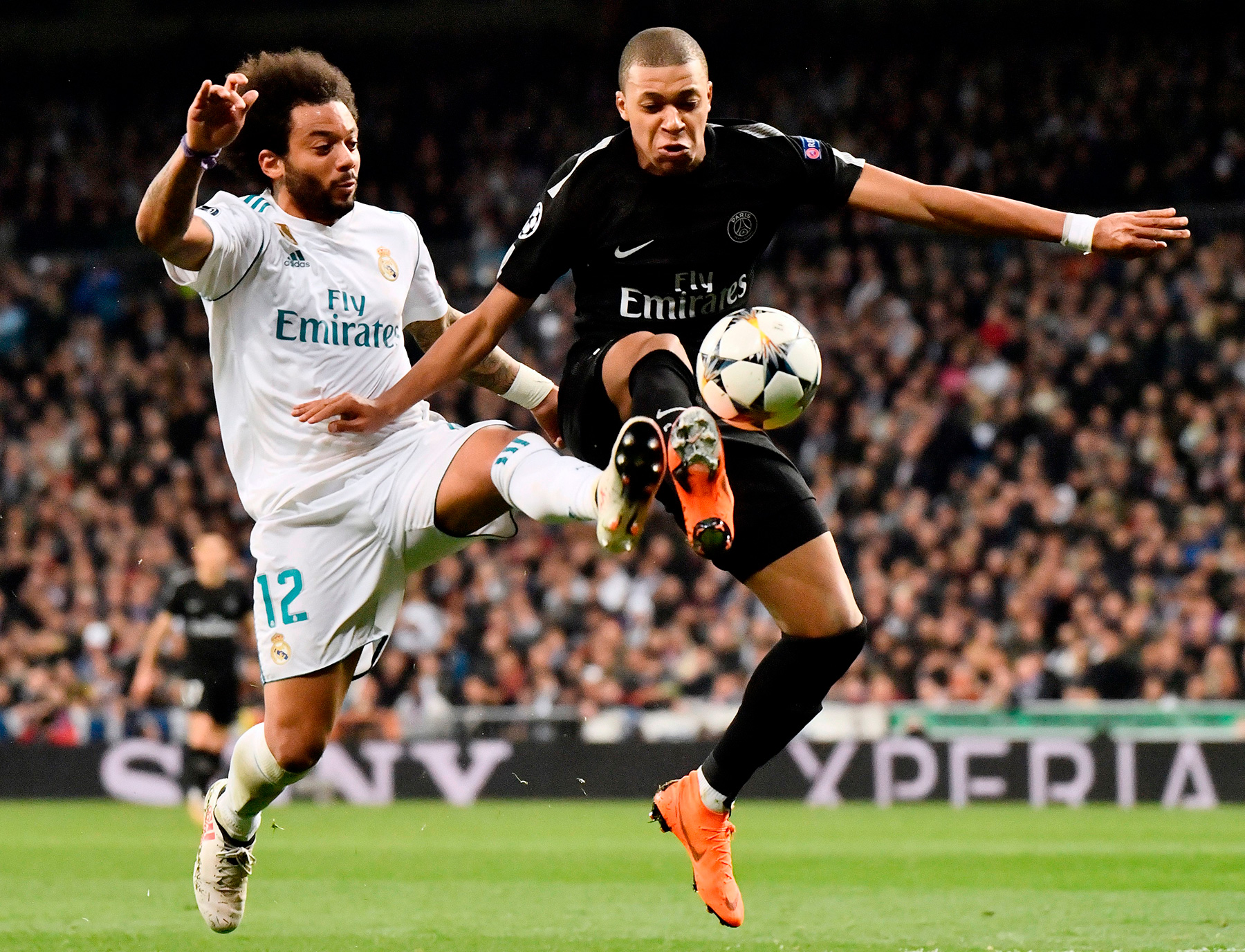 match in photos paris saint germain fall to real madrid in champions league psg talk. Black Bedroom Furniture Sets. Home Design Ideas