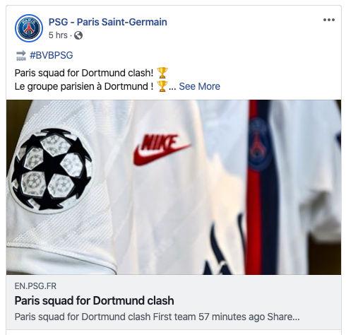 Psg Will Wear White Against Borussia Dortmund In The Champions League Psg Talk
