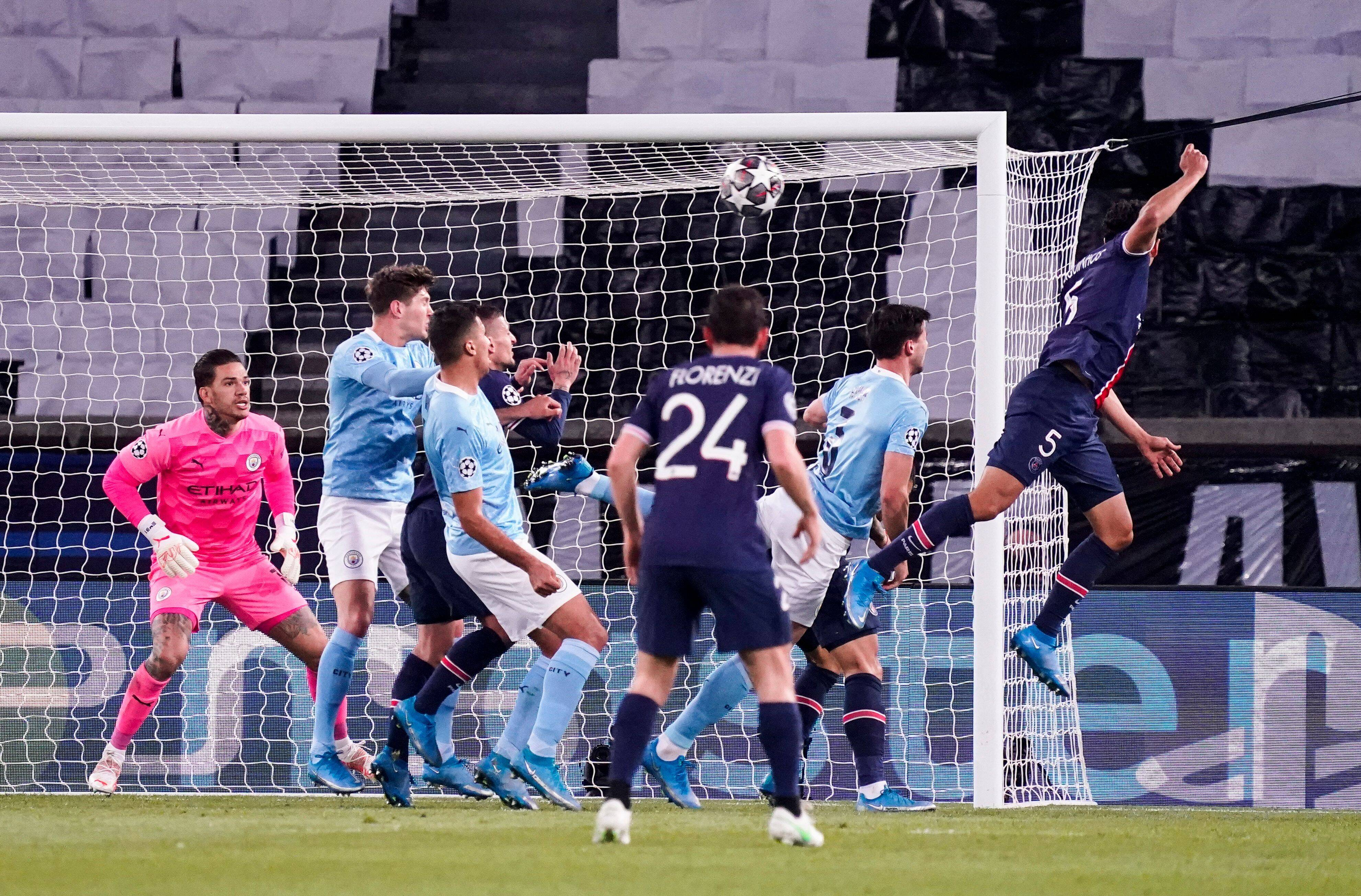 Video: Marquinhos Shocks Manchester City With a Champions League Header Goal - PSG Talk